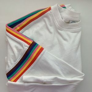 urban outfitters rainbow stripe long sleeve tee